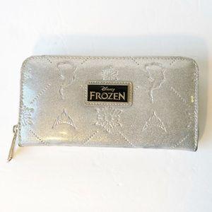 Loungefly Frozen Silver Glitter Wallet